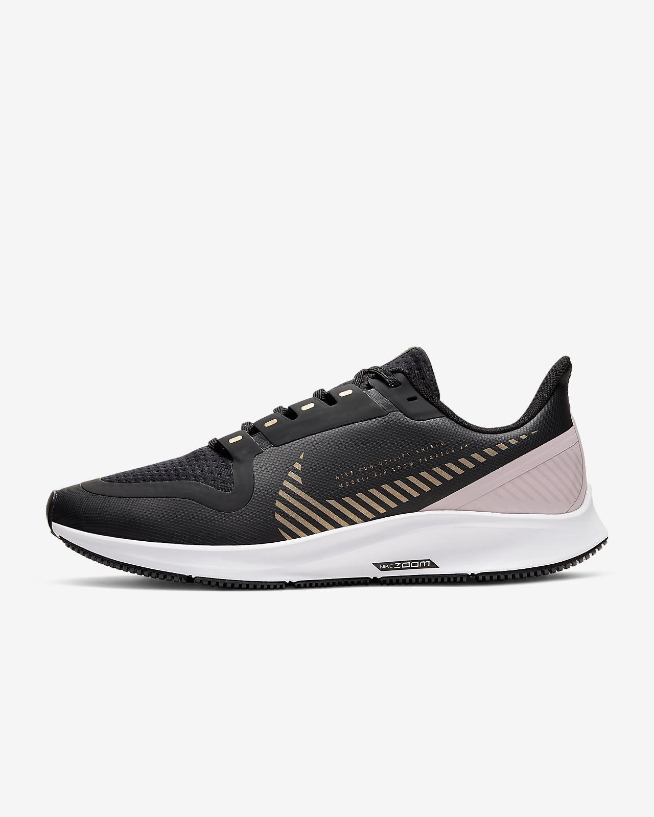 Nike Air Zoom Winflo 5 Run Shield Schwarz Laufschuhe Für