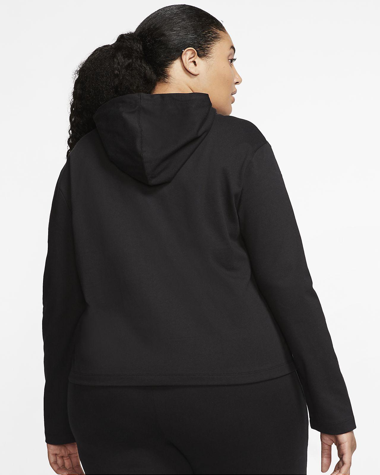 Nike Sportswear hosszú cipzáras, kapucnis női pulóver (plus size méret)