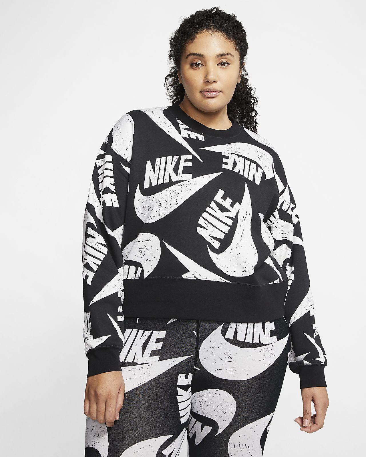 Fleece Nike Rundhalsshirt für Sportswear Damengroße Größe Rj3qA45L