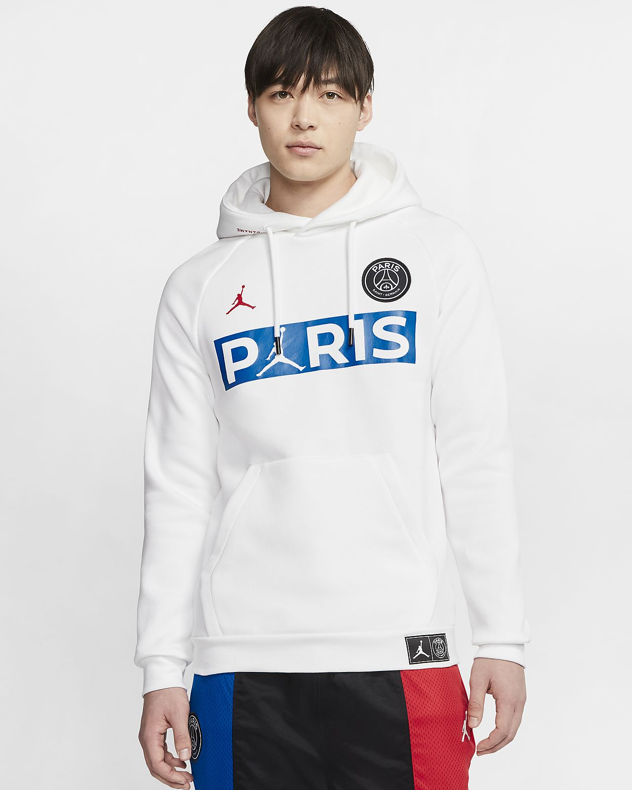 เสื้อมีฮู้ดผ้าฟลีซแบบสวม Paris Saint-Germain
