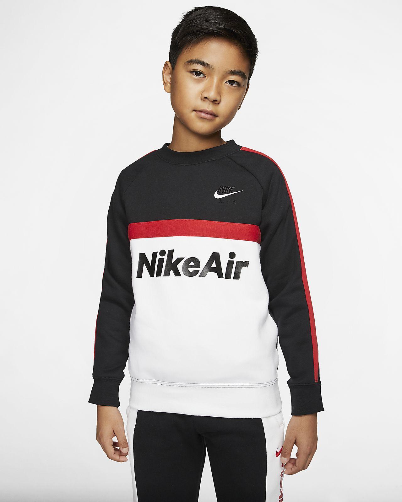 Tröja med rund hals Nike Air för ungdom (killar)
