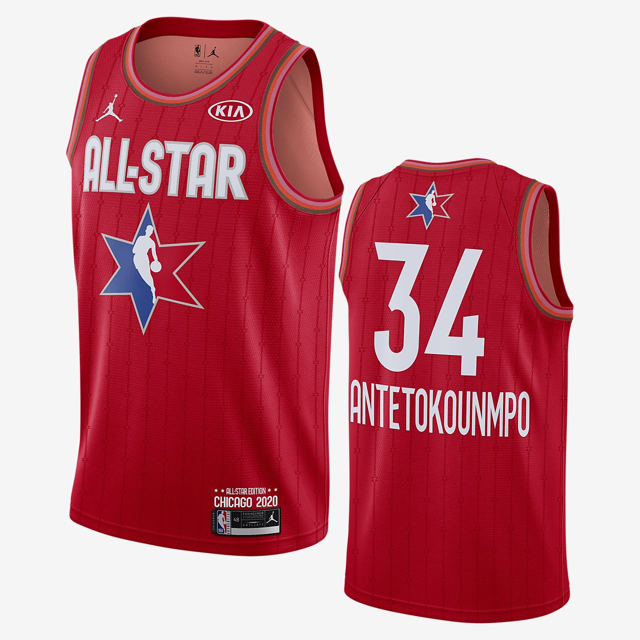 Giannis Antetokounmpo All-Star Jordan NBA Swingman Jersey