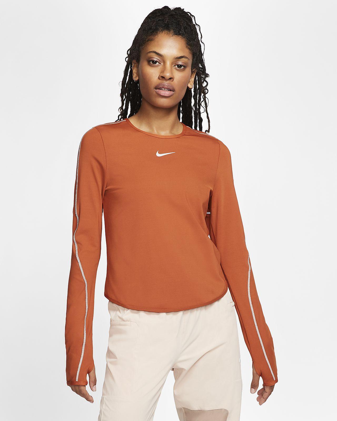 Långärmad löpartröja Nike för kvinnor