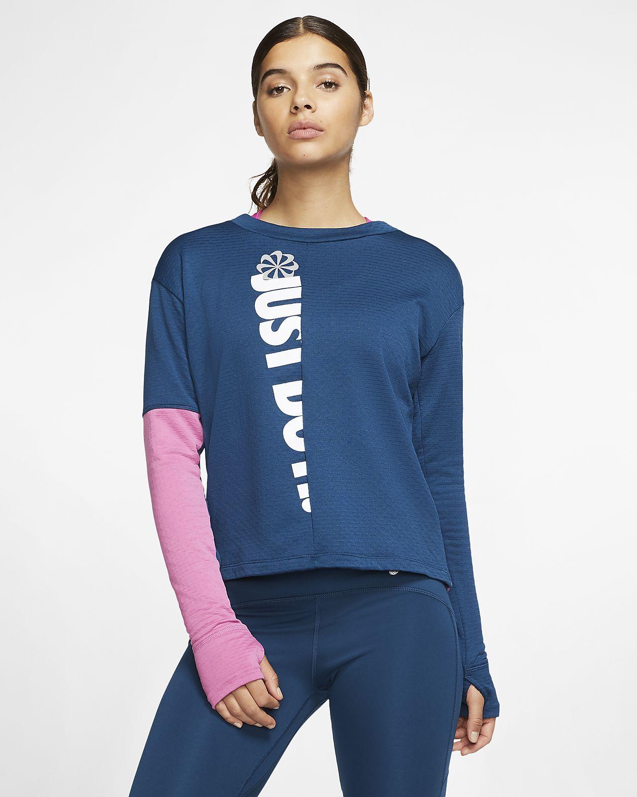 Maglia da running a manica lunga Nike Therma Sphere Icon Clash Donna