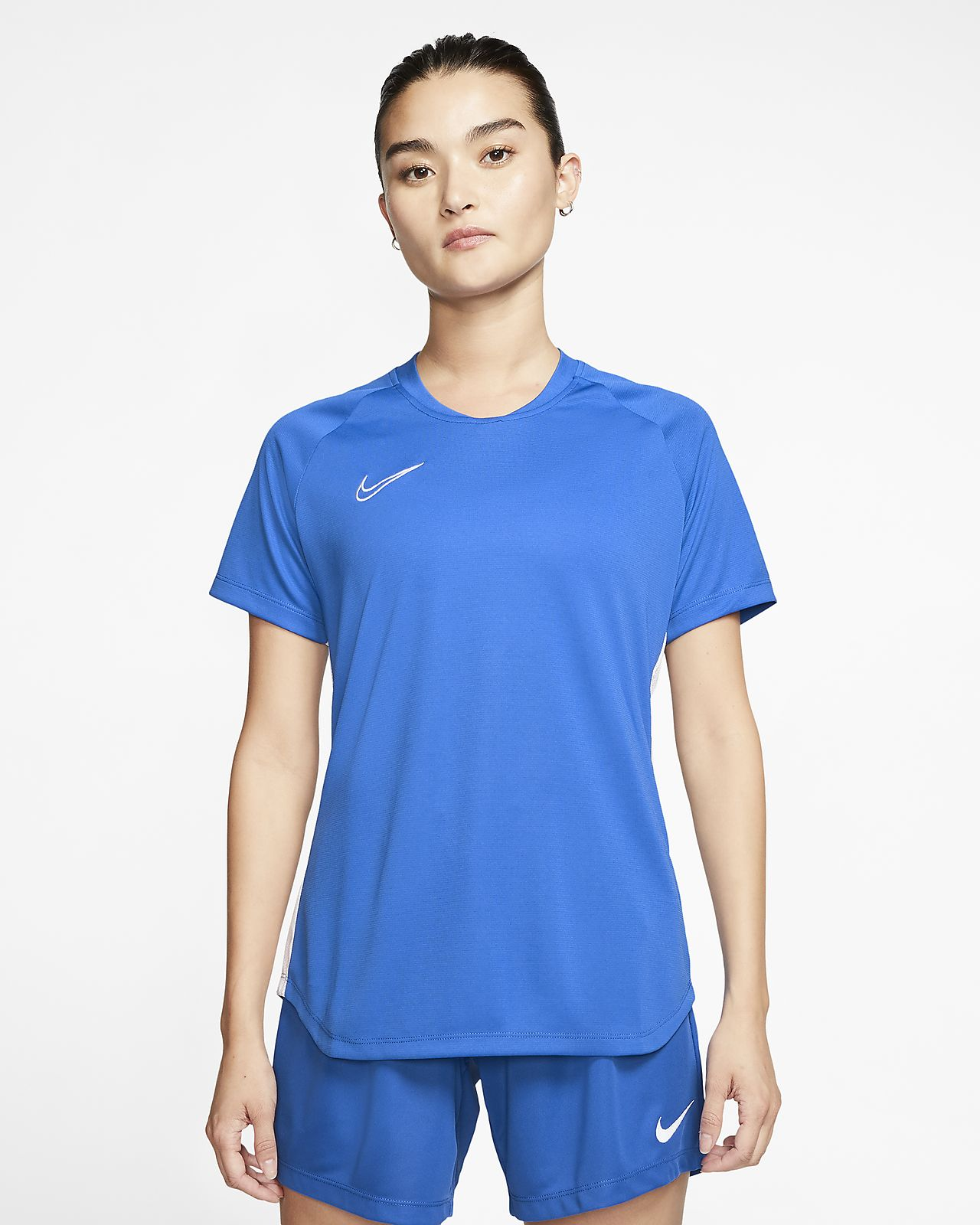 Haut de football à manches courtes Nike Dri-FIT Academy pour Femme