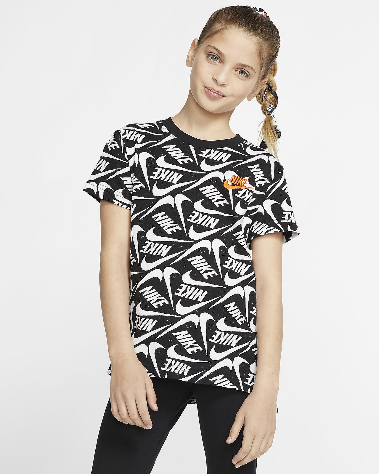 Nike Sportswear Big Kids' (Girls') Printed T Shirt