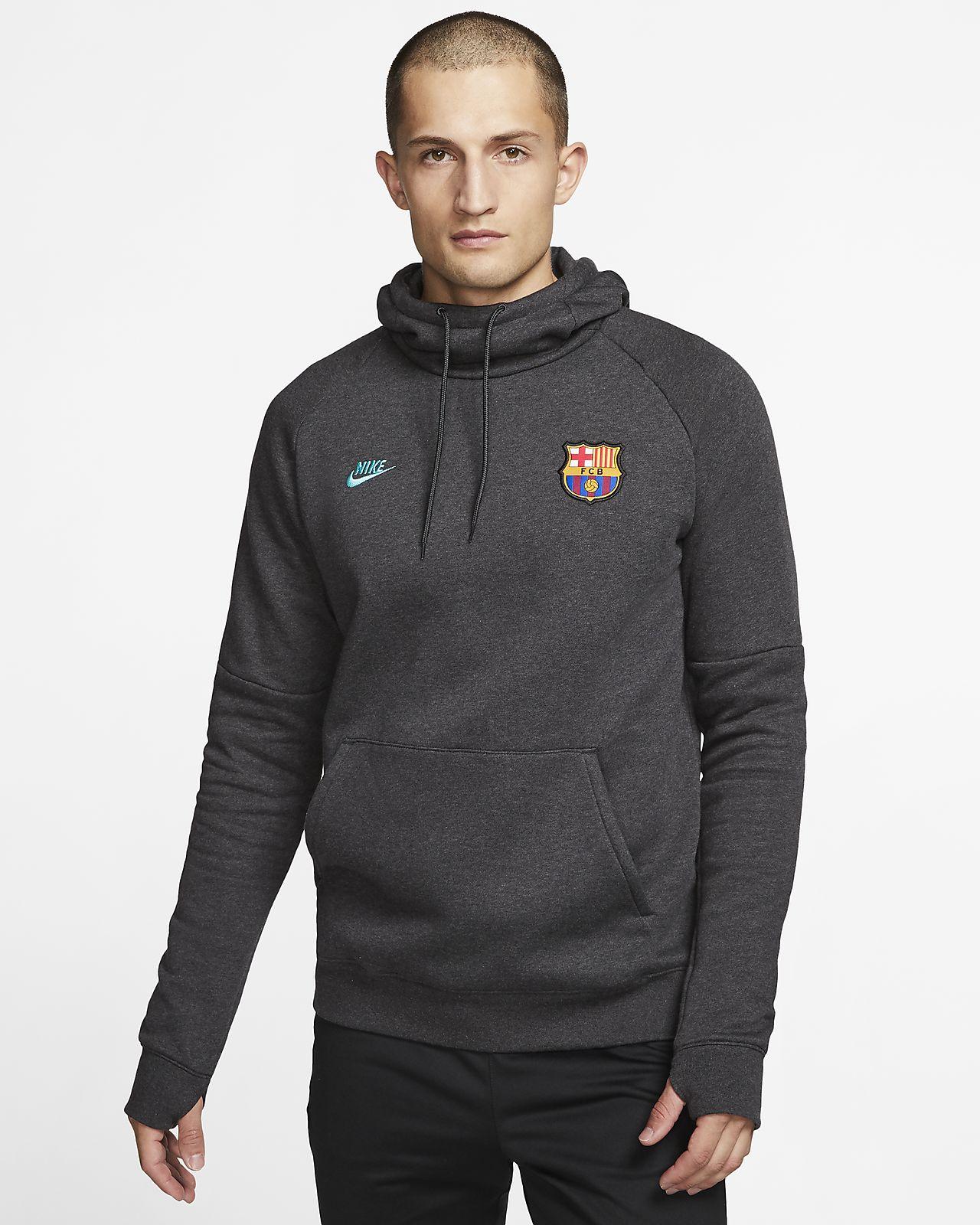 FC Barcelona Men's Fleece Pullover Hoodie
