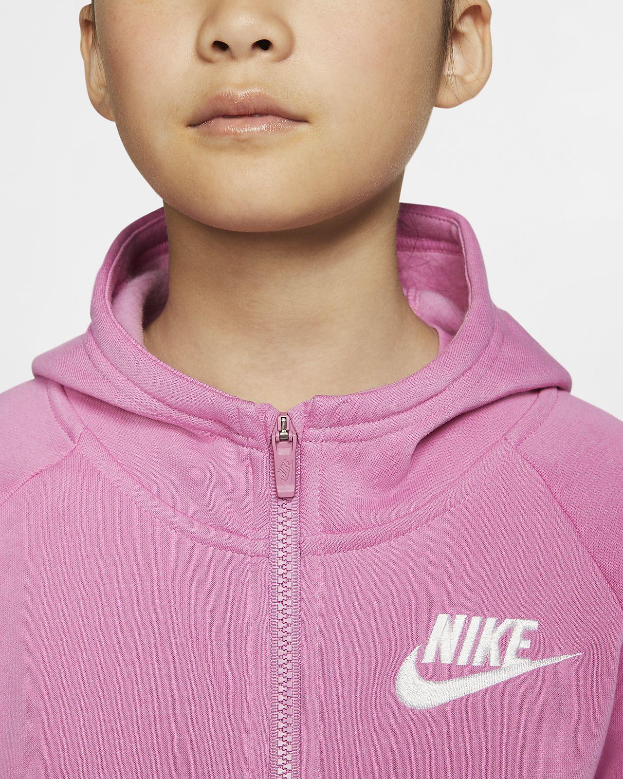 Felpa con cappuccio e zip a tutta lunghezza Nike Sportswear BambinaRagazza