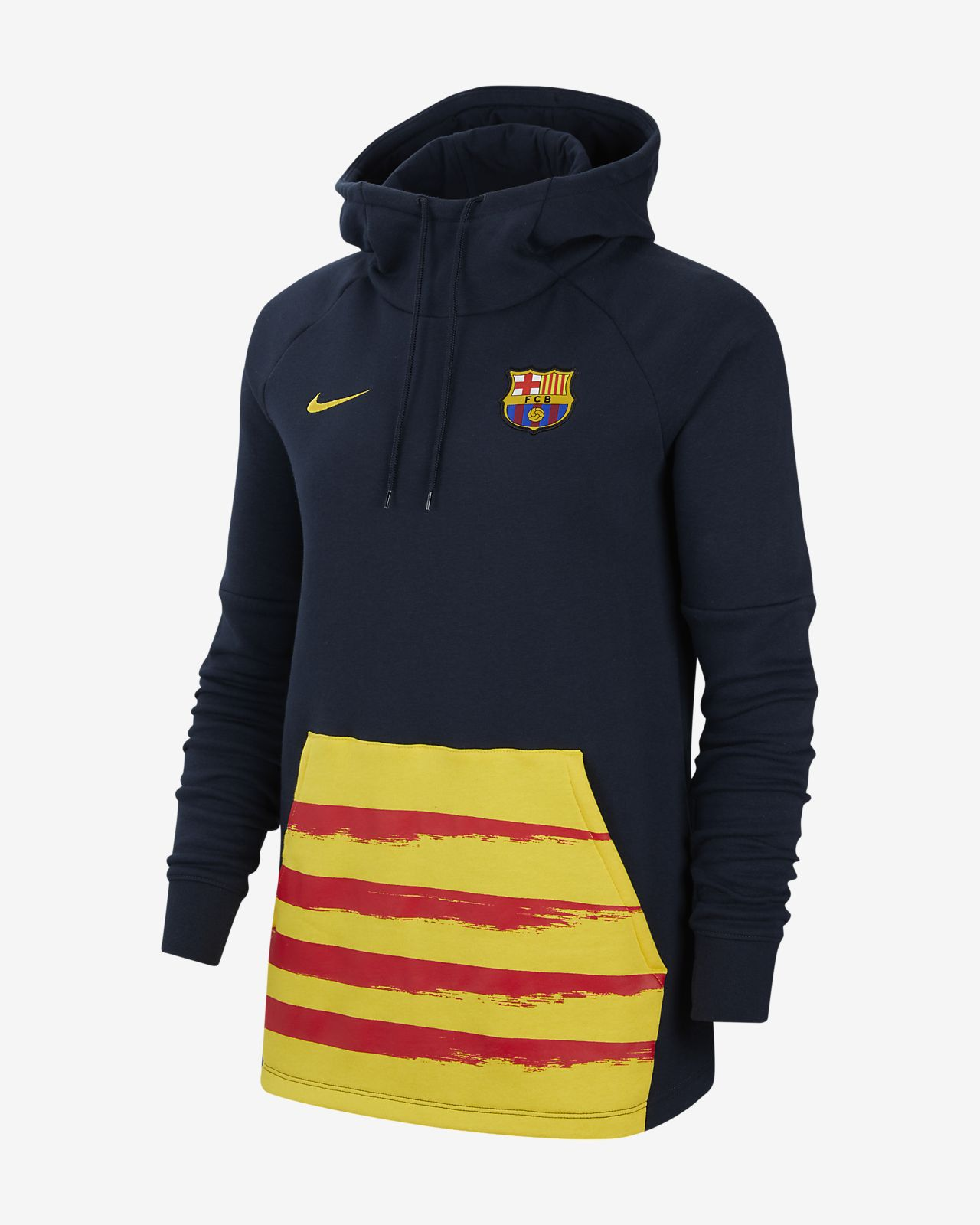 Hoodie pullover de futebol de lã cardada FC Barcelona para mulher