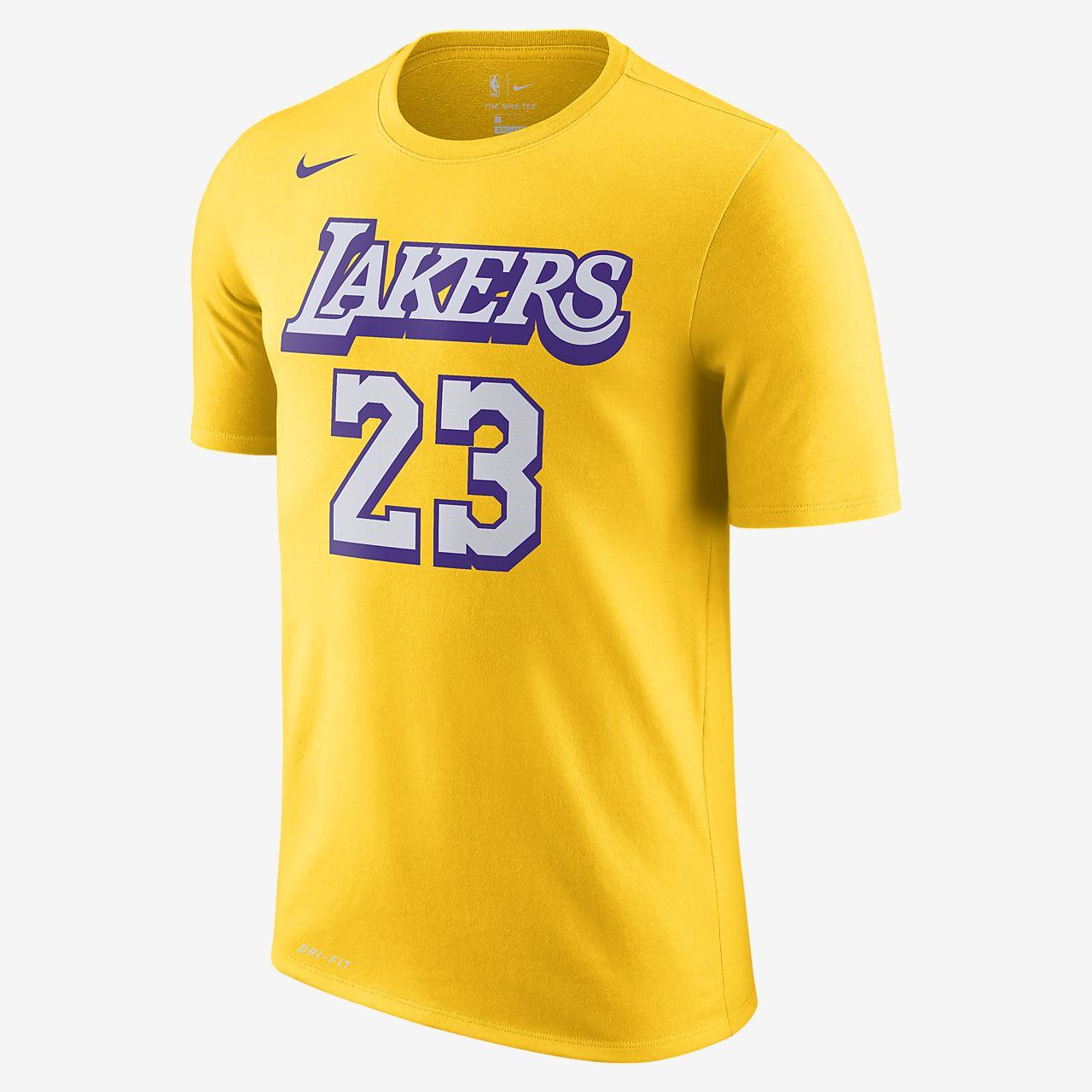 LeBron James Lakers City Edition Men's Nike Dri-FIT NBA T-Shirt