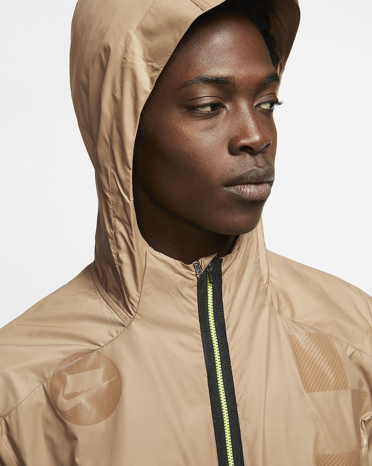 Nike Running Aerolayer jacket in khaki
