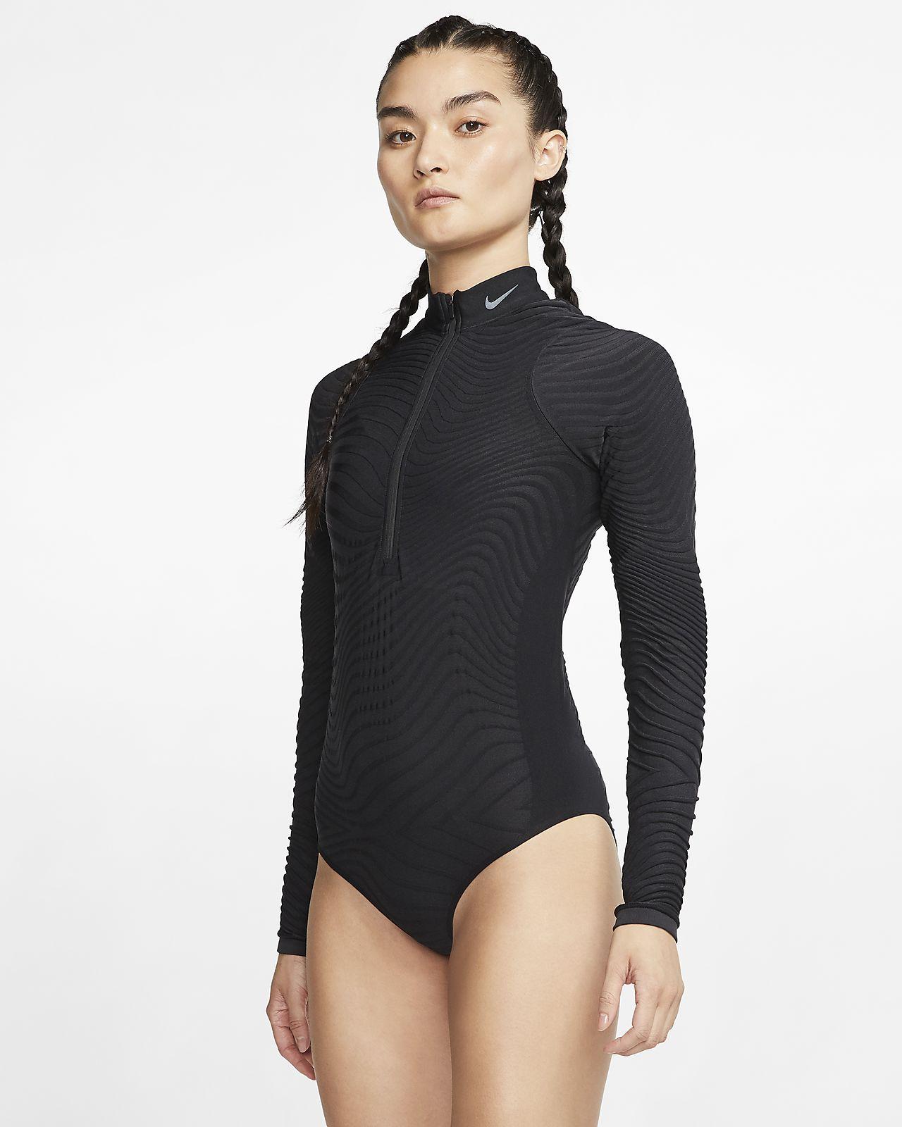 Женское бесшовное боди с длинным рукавом для тренинга Nike City Ready
