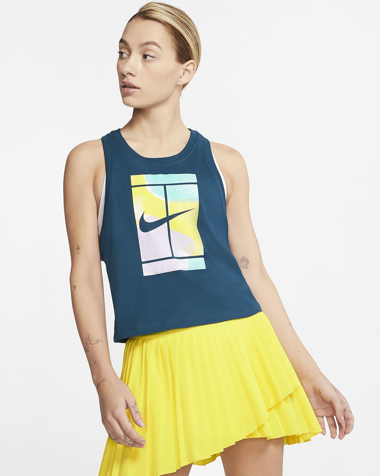 Camiseta de tirantes de tenis corta para mujer NikeCourt