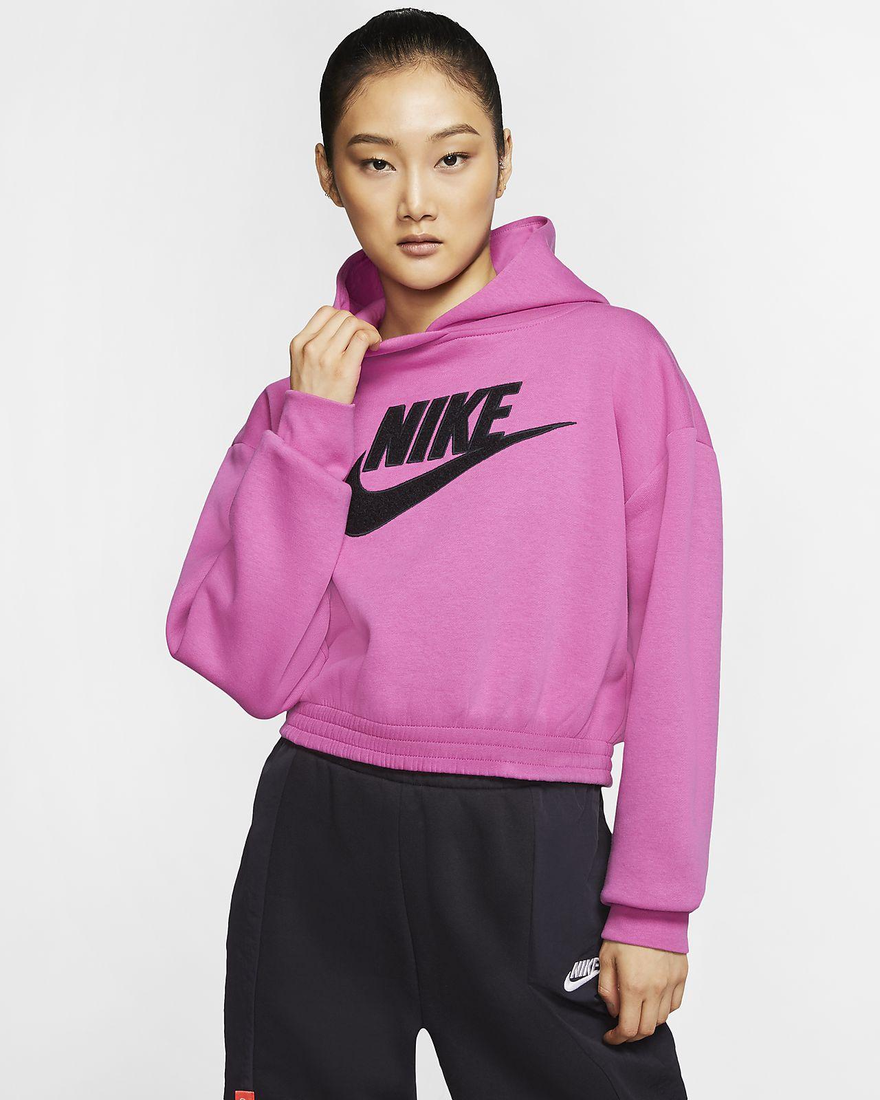 เสื้อมีฮู้ดผ้าฟลีซผู้หญิง Nike Sportswear