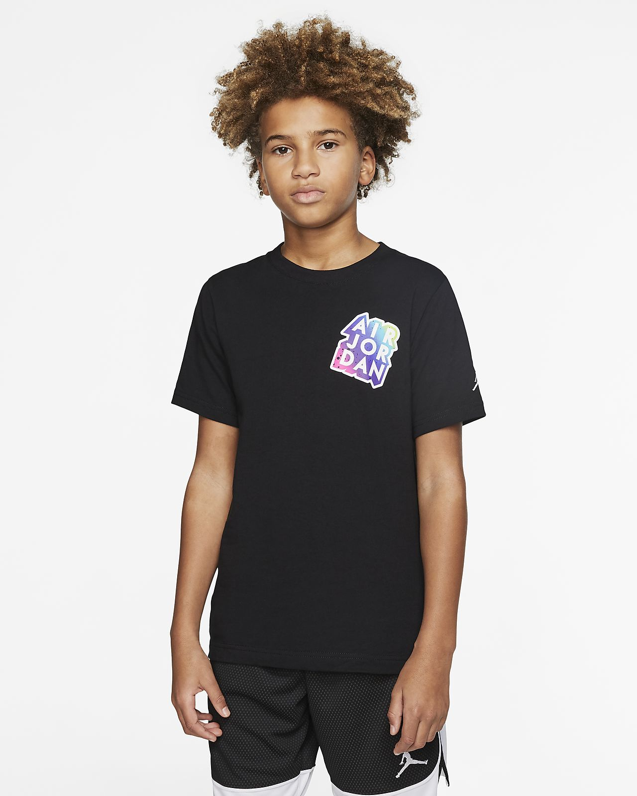 Kortærmet Air Jordan T shirt til store børn (drenge)