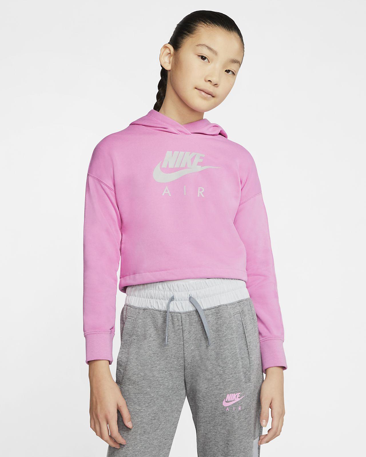 Nike Air kort hettegenser til store barn (jente)