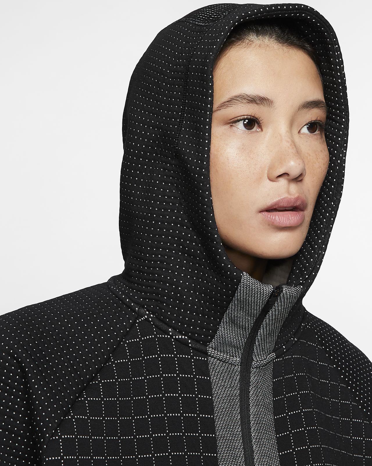 Sportswear City Ready Women's Fleece Full zip Jacket In Black