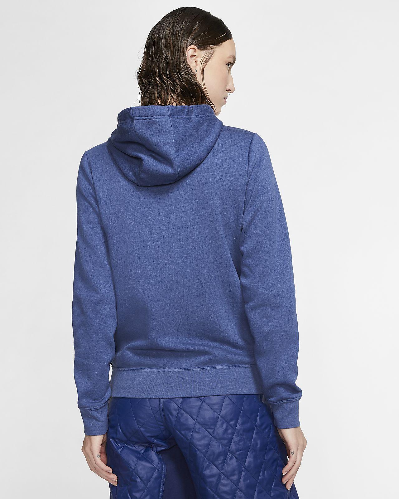 Nike Sportswear Women's Full Zip Logo Hoodie Blue