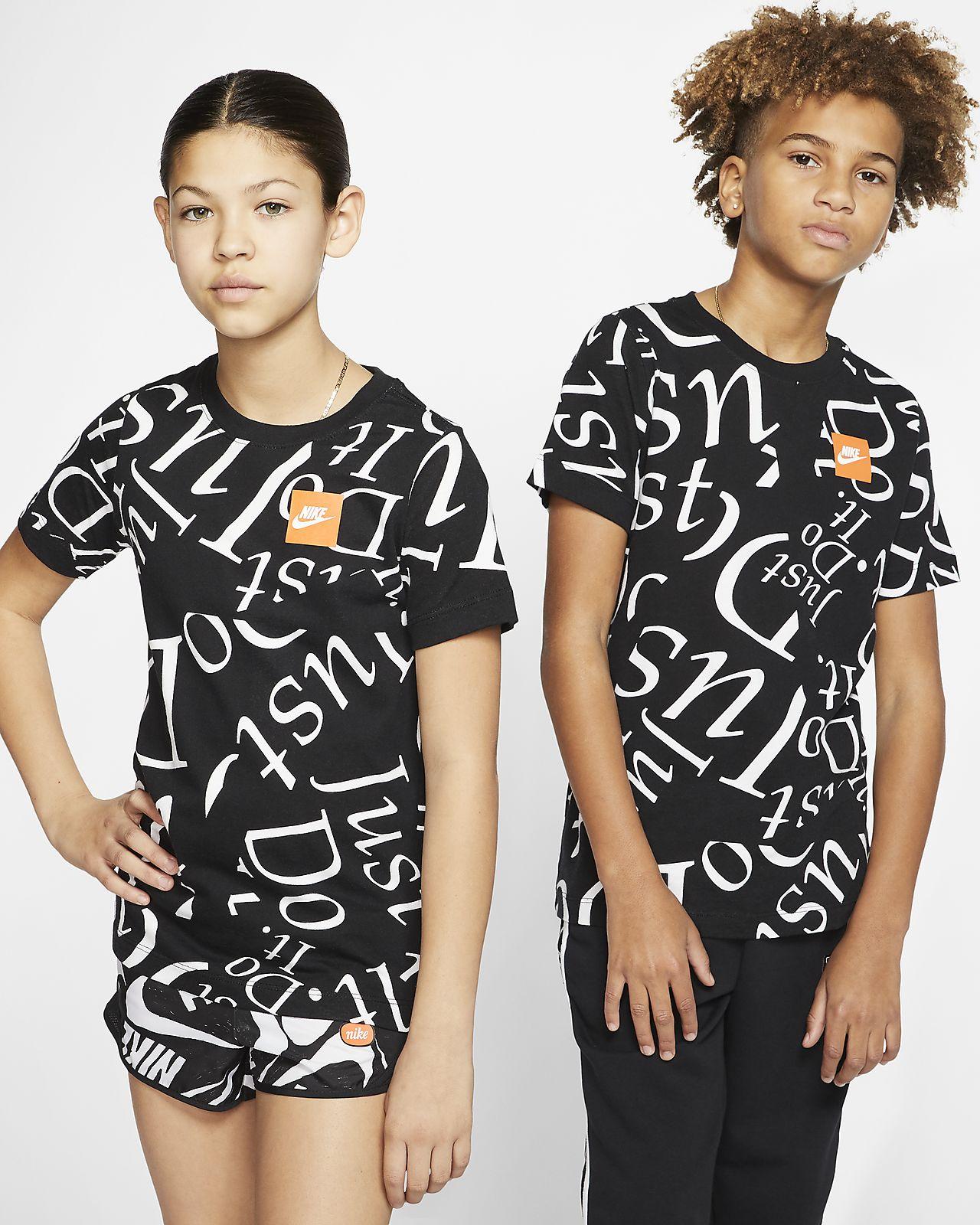 Nike Sportswear Printed T-skjorte for store barn