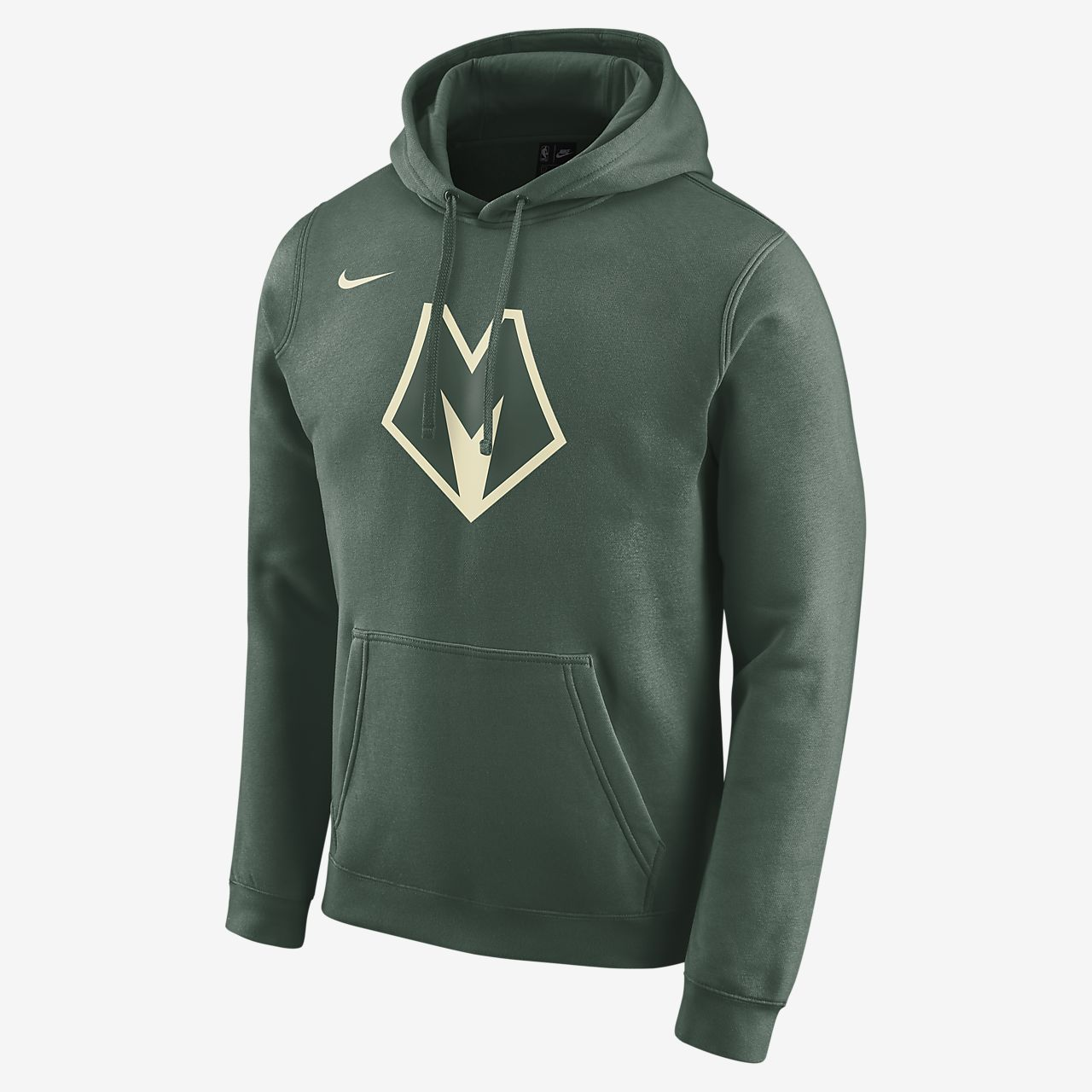 Sudadera con capucha Nike NBA para hombre Bucks City Edition Logo