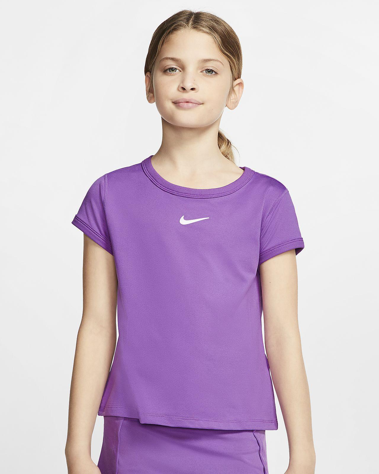 NikeCourt Dri-FIT tennisoverdel til jente