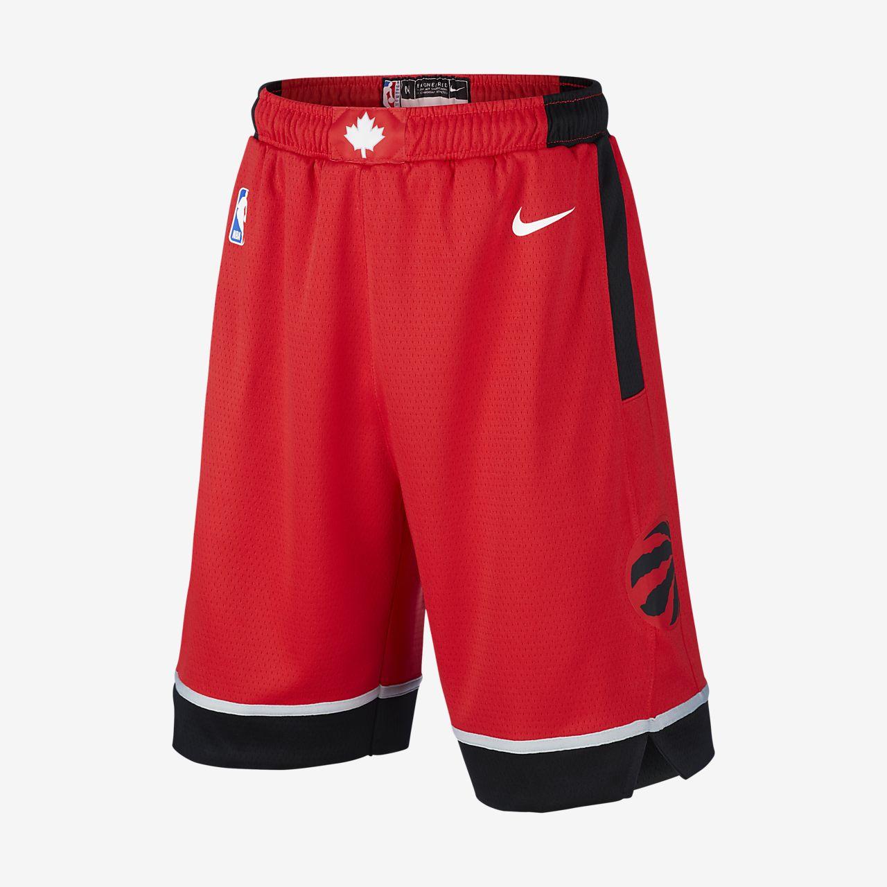 Spodenki dla dużych dzieci Nike NBA Swingman Toronto Raptors Icon Edition