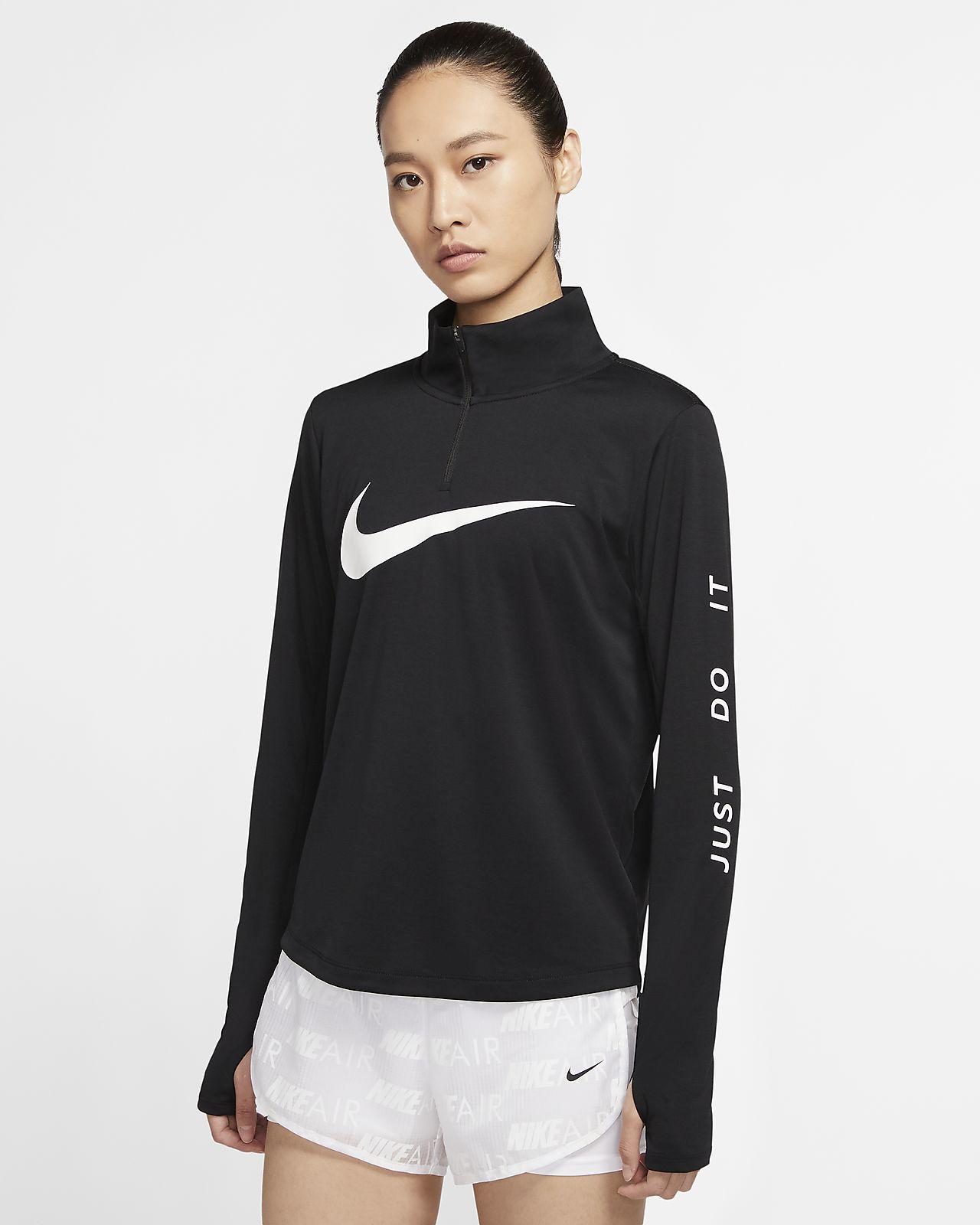Nike 女子 1/4 拉链开襟跑步上衣