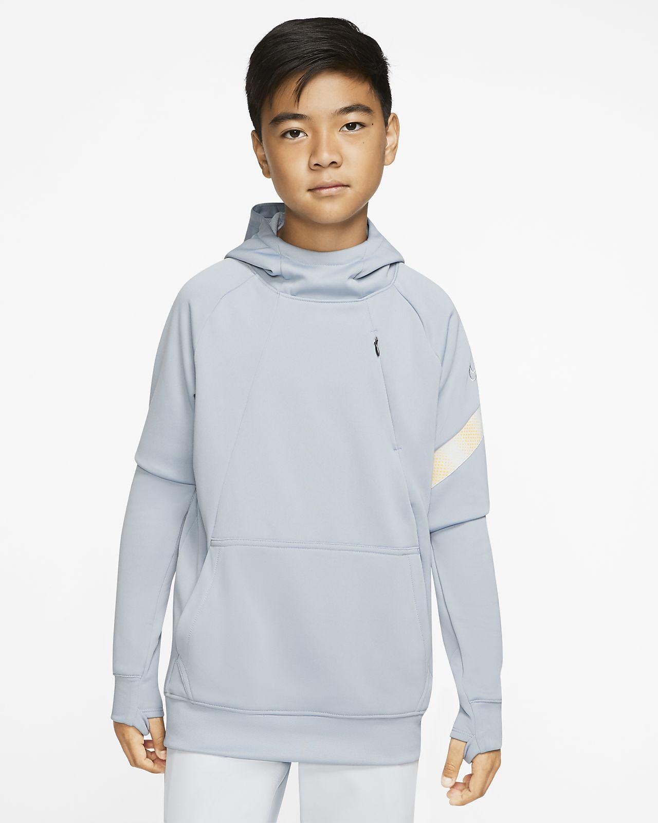 Ποδοσφαιρική μπλούζα με κουκούλα Nike Dri-FIT Academy Pro για μεγάλα αγόρια