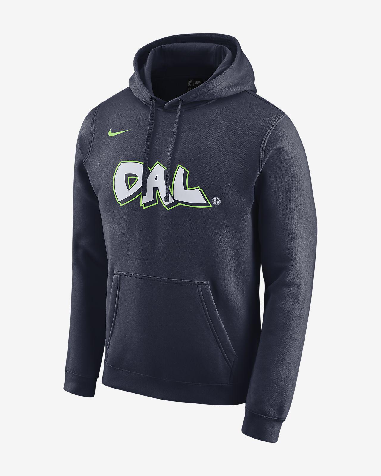 Felpa con cappuccio Mavericks City Edition Logo Nike NBA Uomo