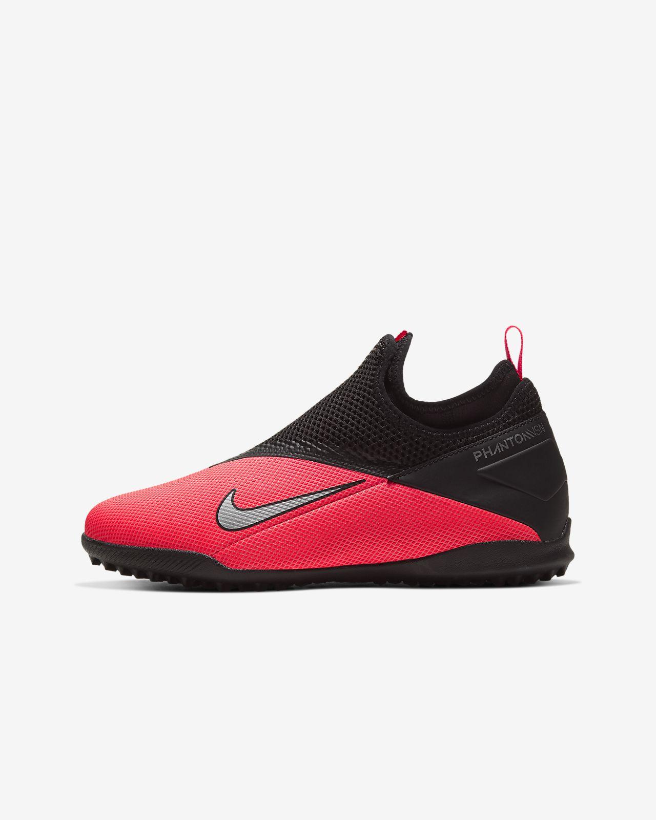 Nike JrPhantom VSN 2 Academy DF TF 暗煞系列大童人造场地足球童鞋