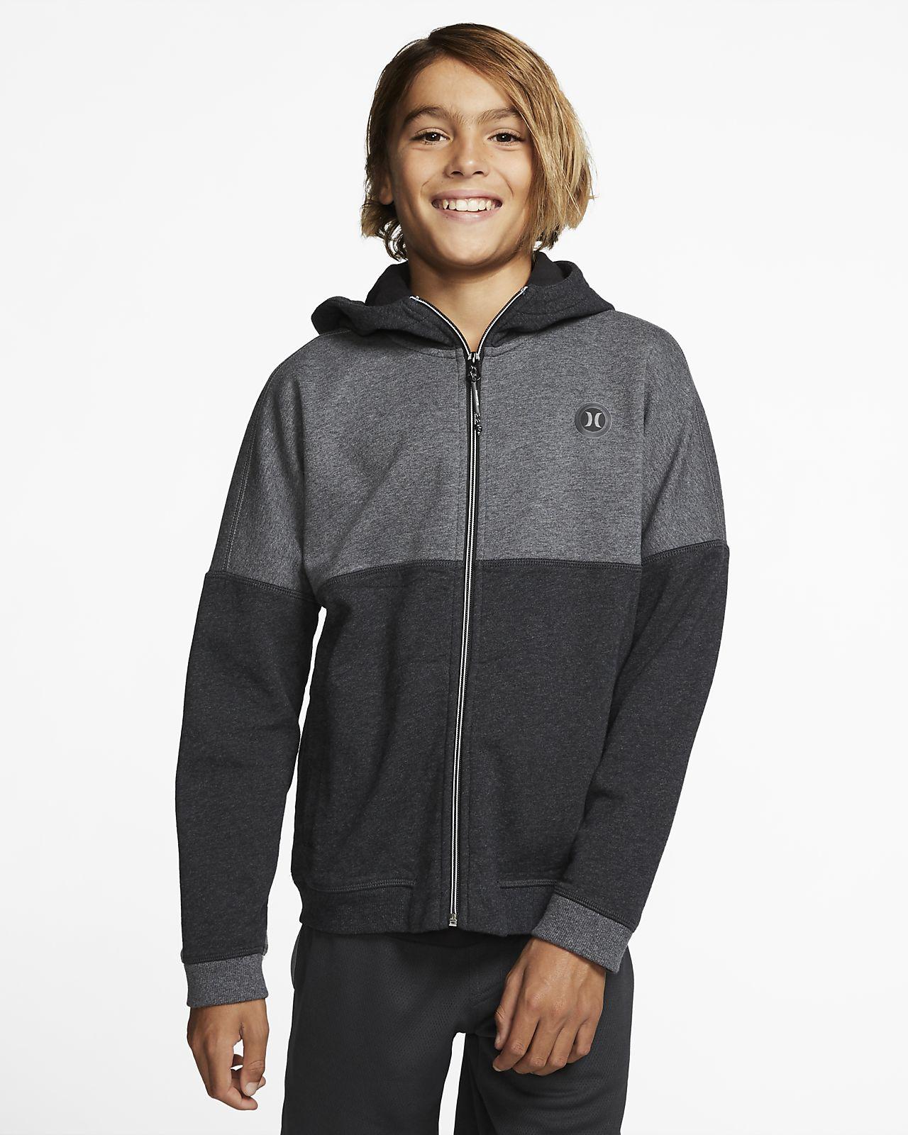 Nike Boys Fleece Sweatshirt Full Tracksuit GreyBlack