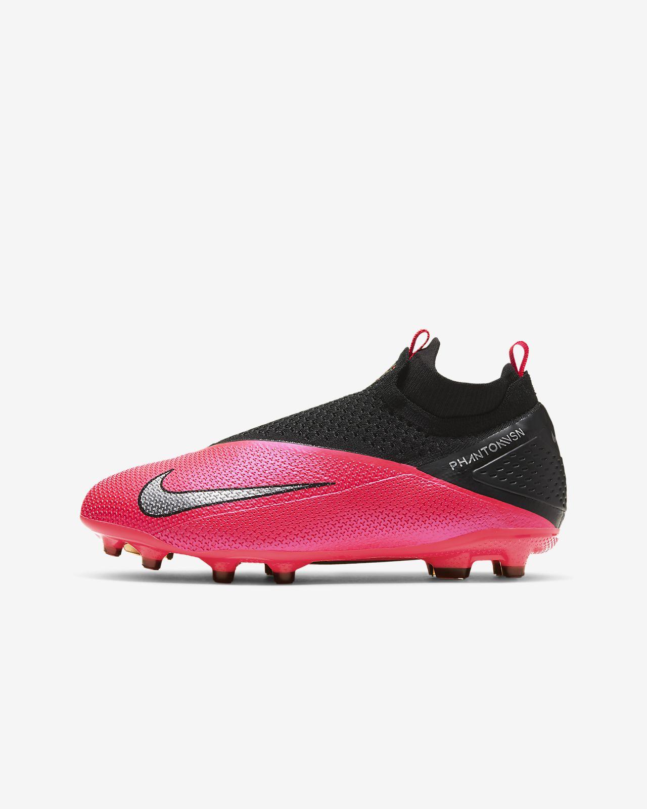 Calzado de fútbol para múltiples superficies para niños talla grande Nike Jr. Phantom Vision 2 Elite Dynamic Fit MG