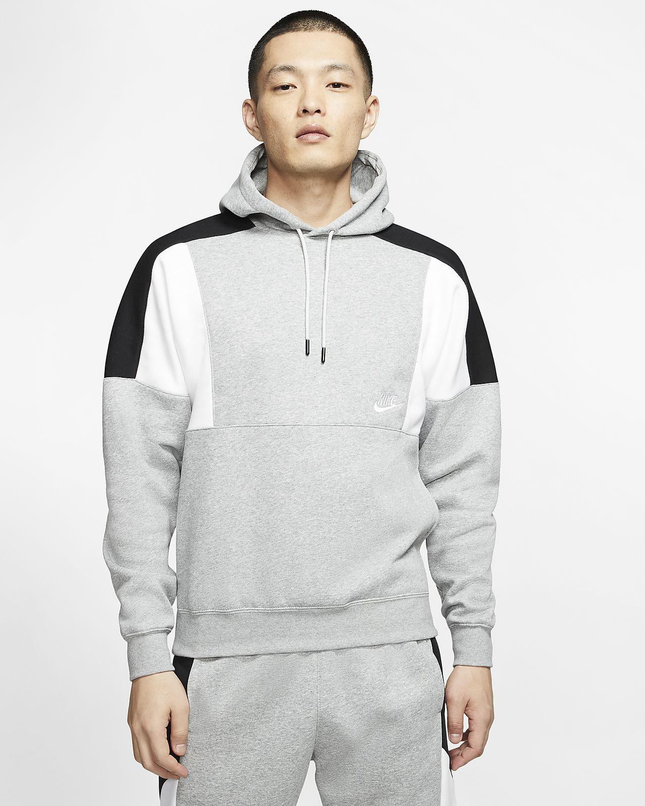 Μπλούζα με κουκούλα και χρωματικές αντιθέσεις Nike Sportswear