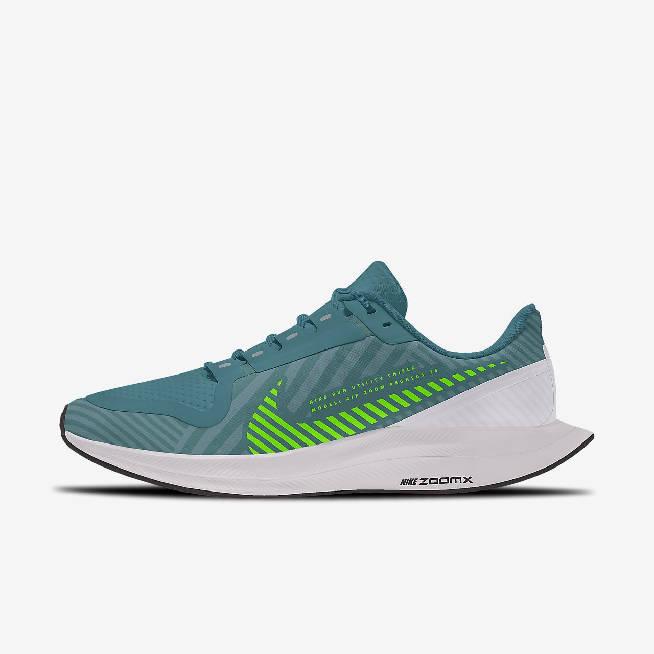 Scarpa da running personalizzabile Nike Zoom Pegasus Turbo 2 Shield Low By You - Uomo
