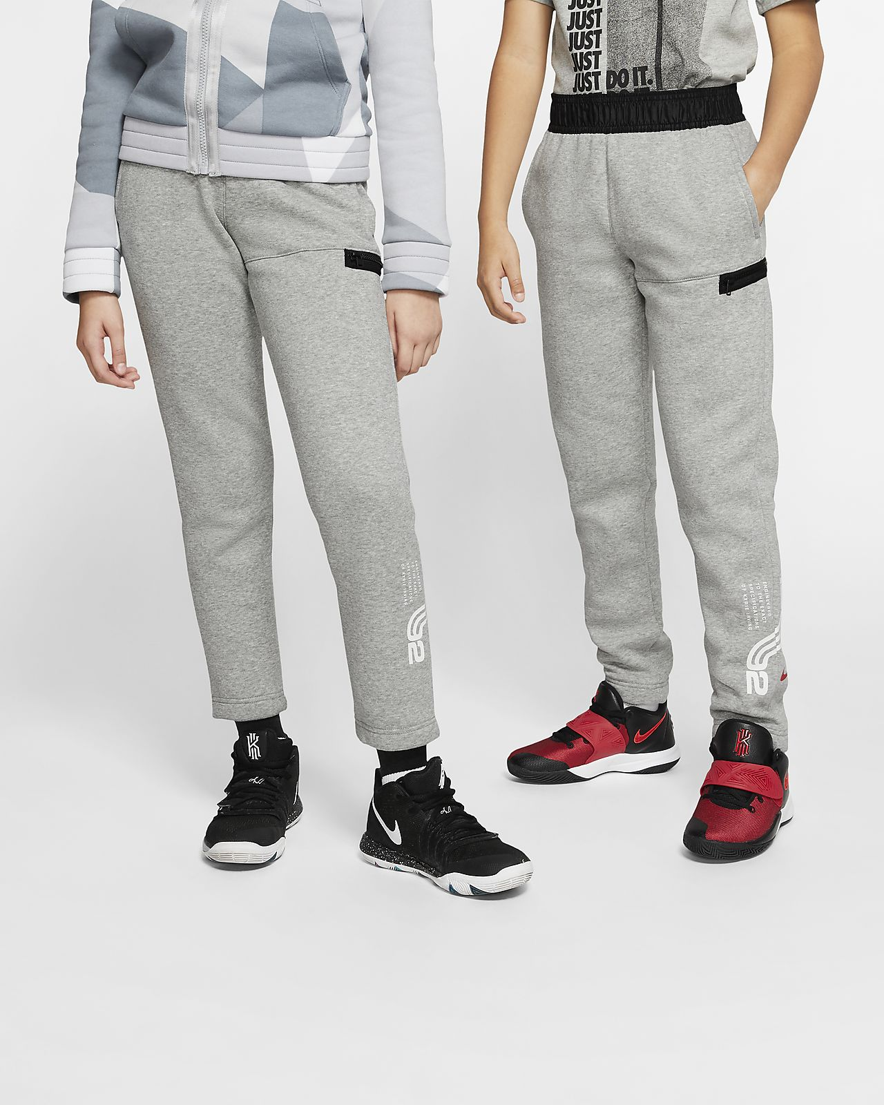 Kyrie Big Kids' Fleece Basketball Pants