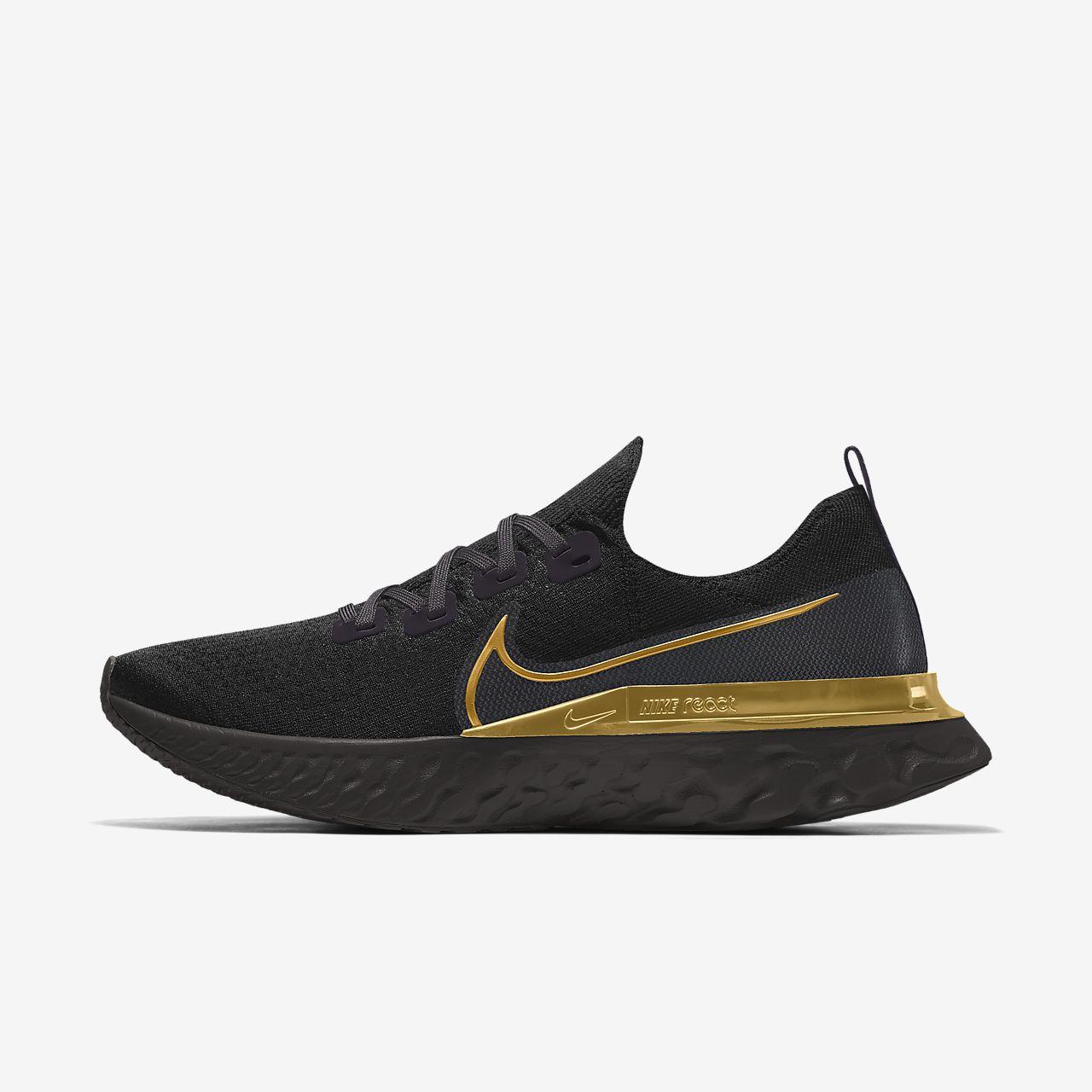 Custom Nike React Infinity Run Flyknit By You-løbesko til kvinder