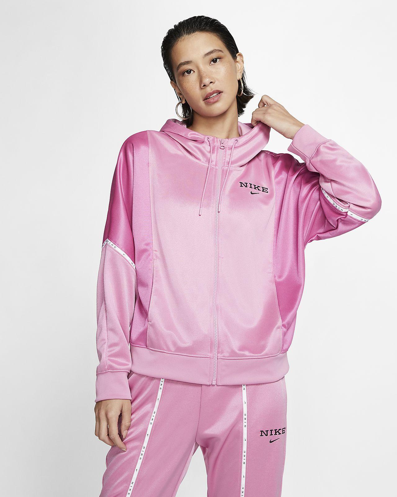 Nike Sportswear Damenjacke mit Kapuze und durchgehendem Reißverschluss