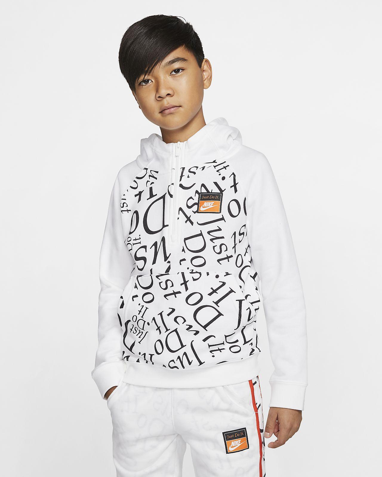 Nike Sportswear Older Kids' (Boys') 1/2-Zip Hoodie