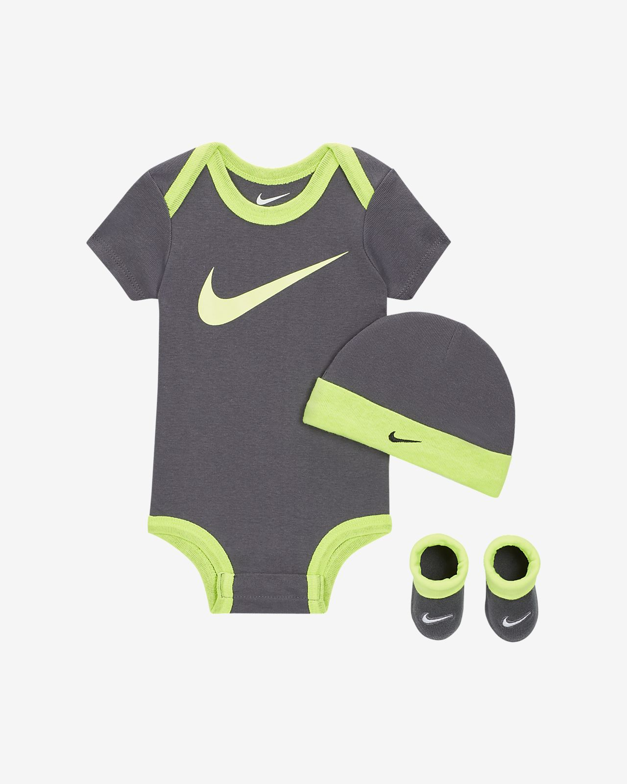 Nike Baby Bodysuit, Hat and Booties Box Set