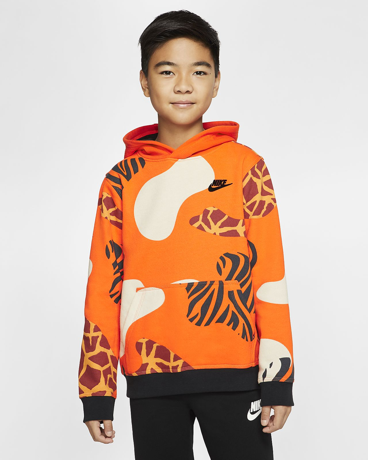 Nike Sportswear Club Fleece Big Kids' (Boys') Pullover Hoode