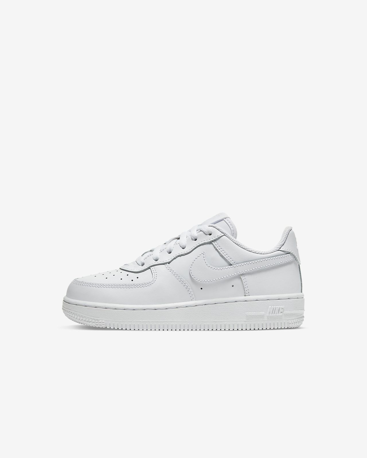 Nike Air Force 1 Toddler Size 3 C White Shoes Leat