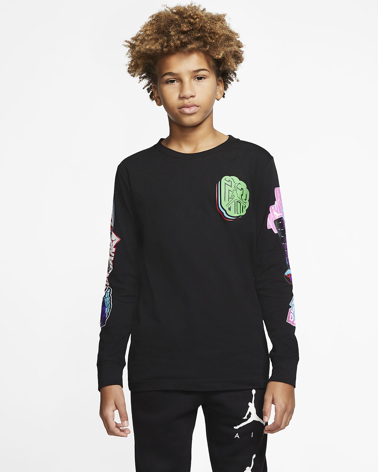 Air Jordan Big Kids' (Boys') Long-Sleeve T-Shirt