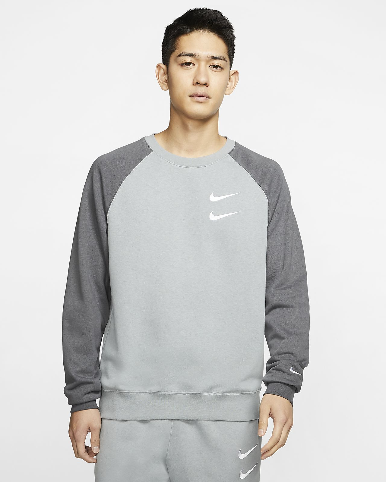 Nike Sportswear Swoosh Men's French Terry Crew