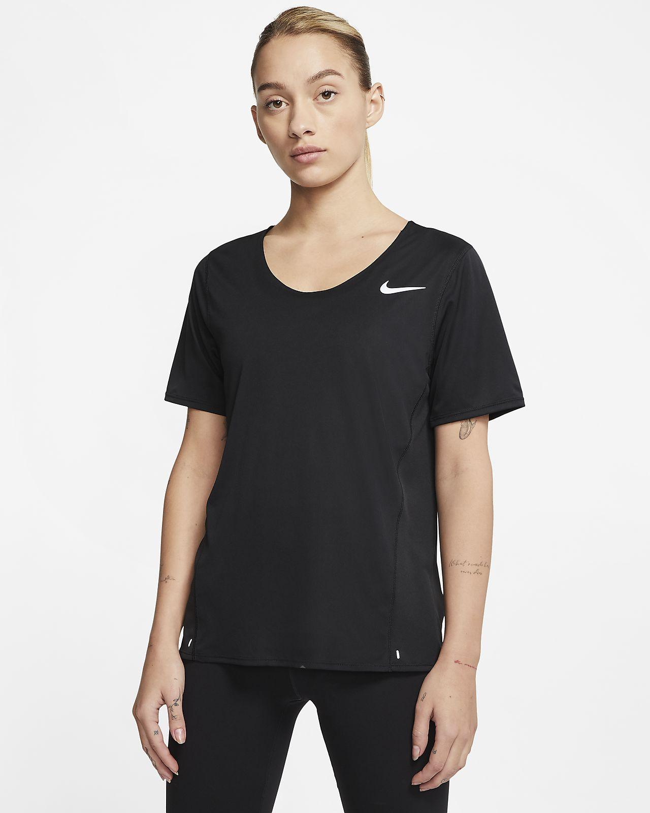 Top da running a manica corta Nike City Sleek Donna