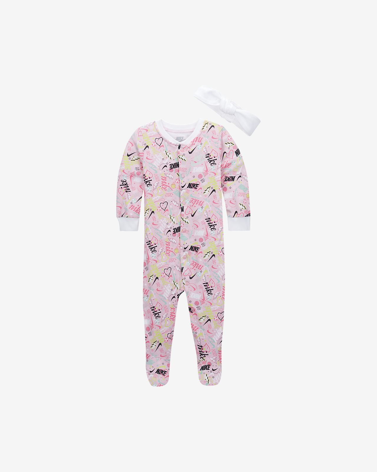 Nike Baby (0-9M) Coverall and Headband Set