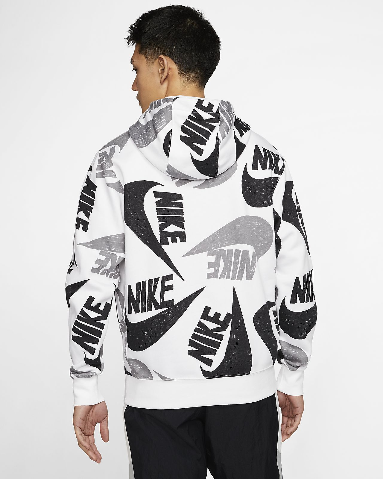 Męska bluza z kapturem i grafiką Nike Sportswear Club Fleece