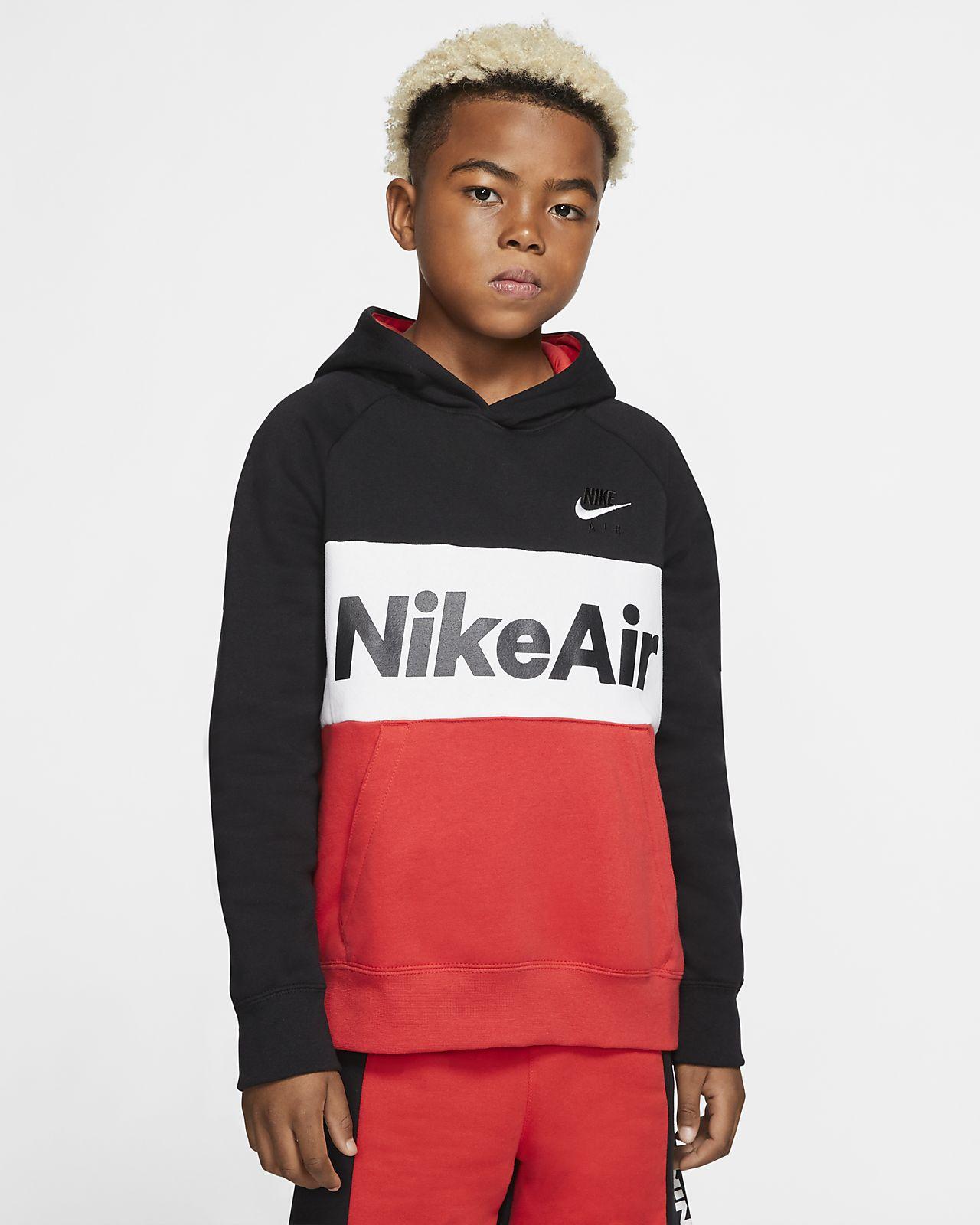 Μπλούζα με κουκούλα Nike Air για μεγάλα αγόρια