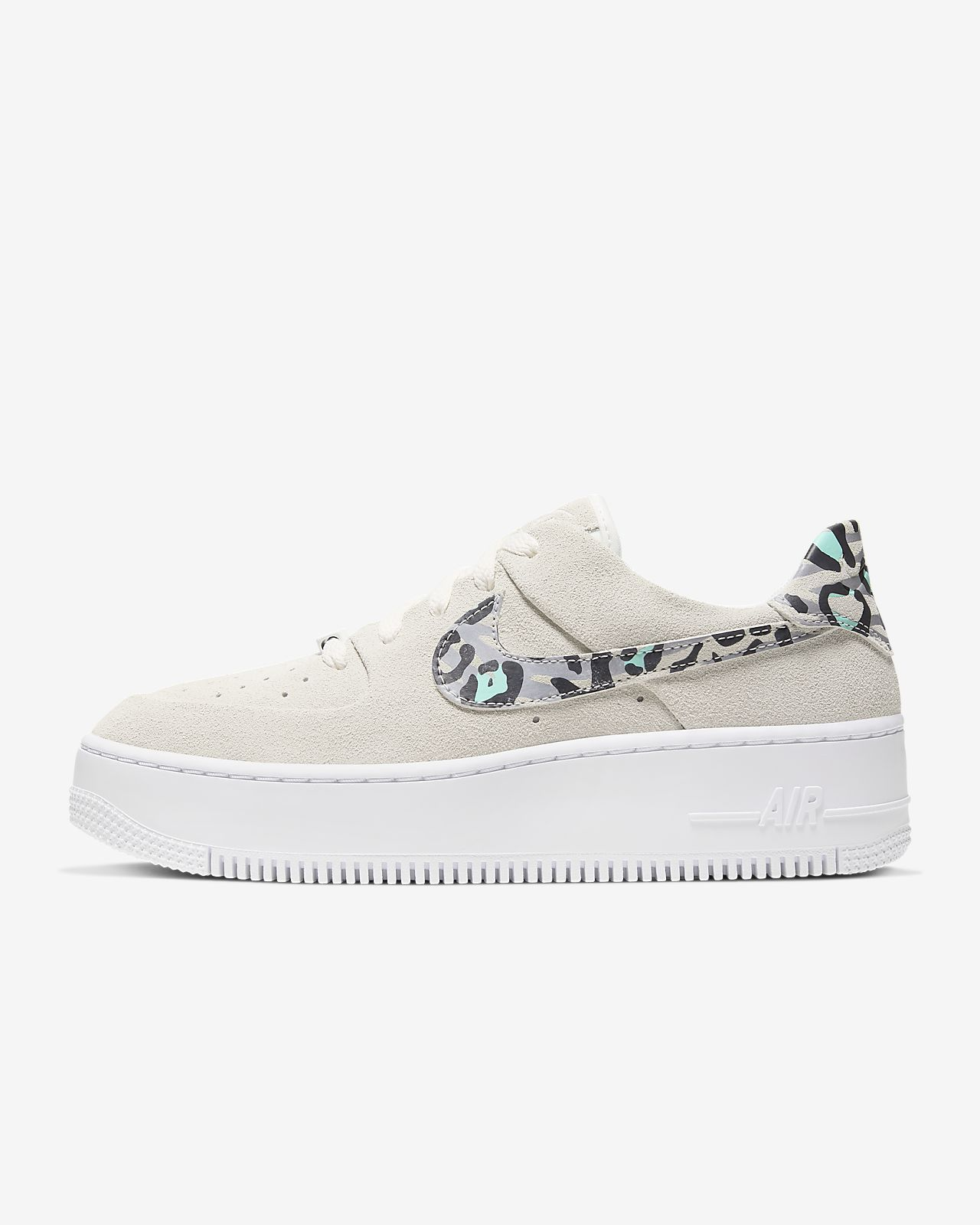 nike air force 1 sage blanc