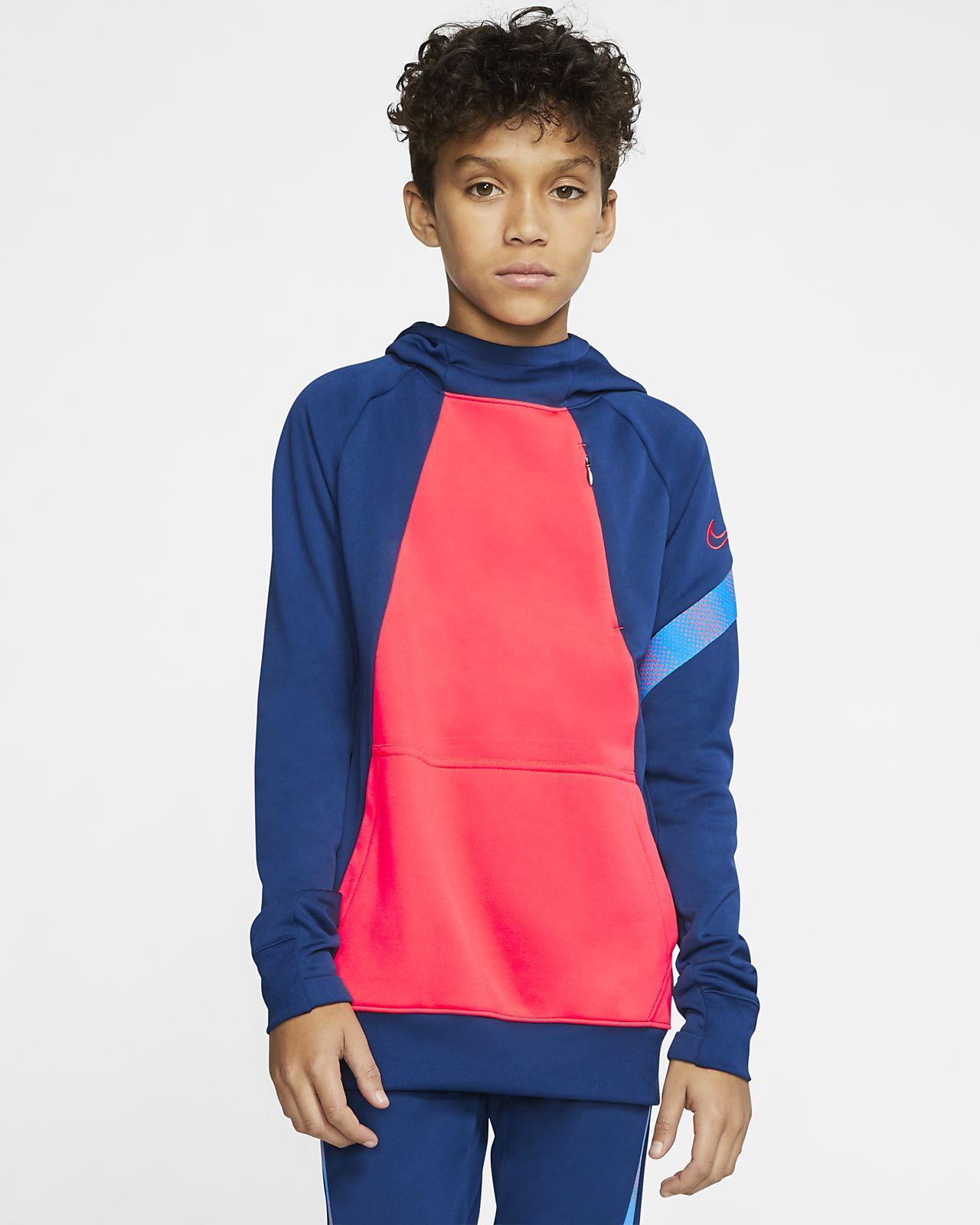 Nike Dri-FIT Academy Pro Genç Çocuk Kapüşonlu Futbol Sweatshirt'ü