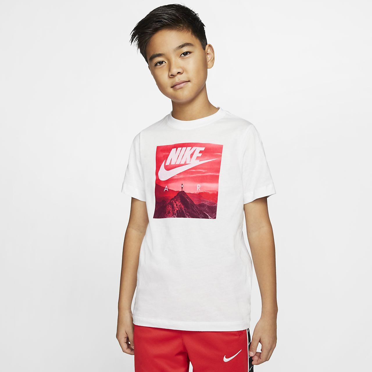 Nike Air Boys' Sportswear T Shirt university redblack AR5280 657